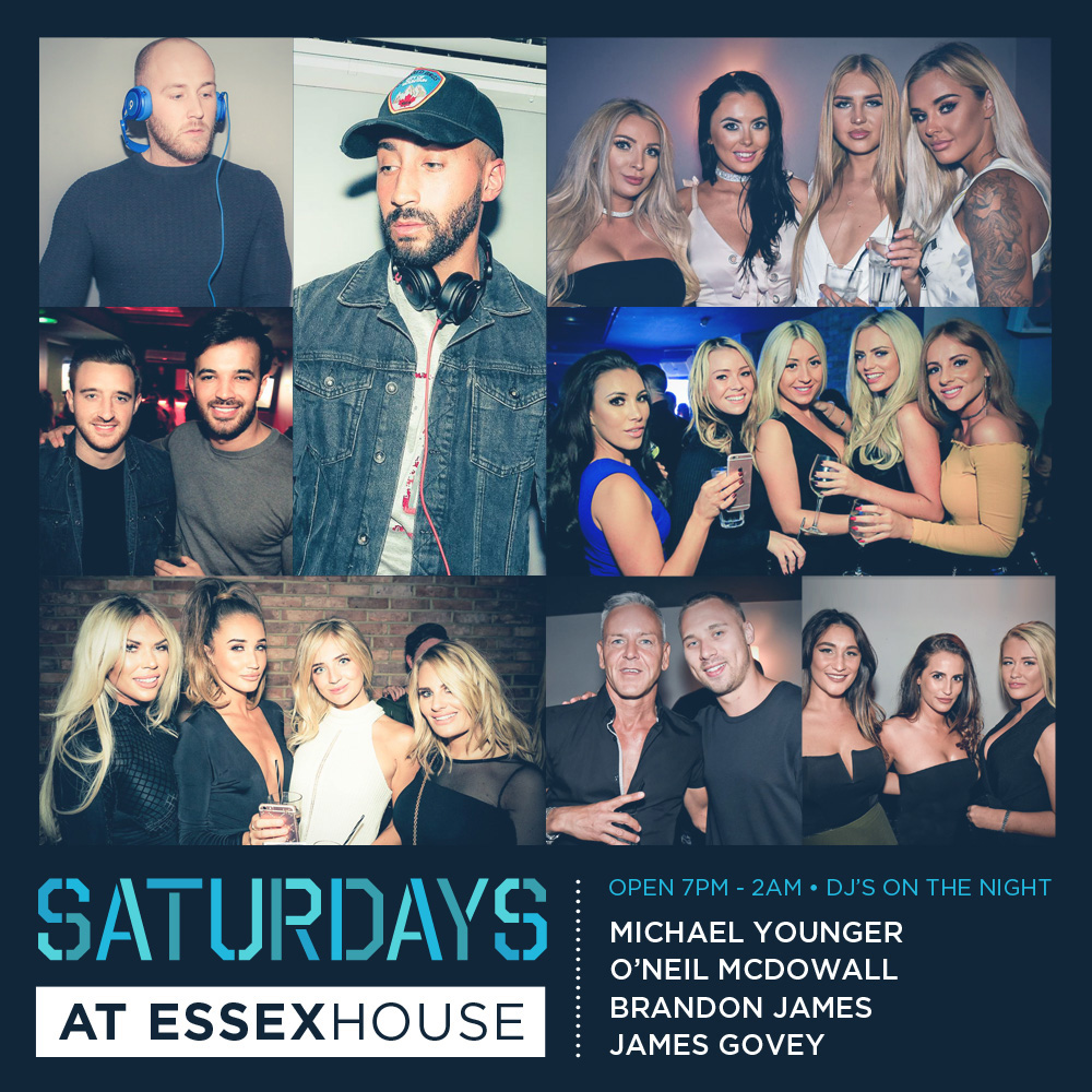 Saturdays at Essex House Mar 18 A6 Sq 20%