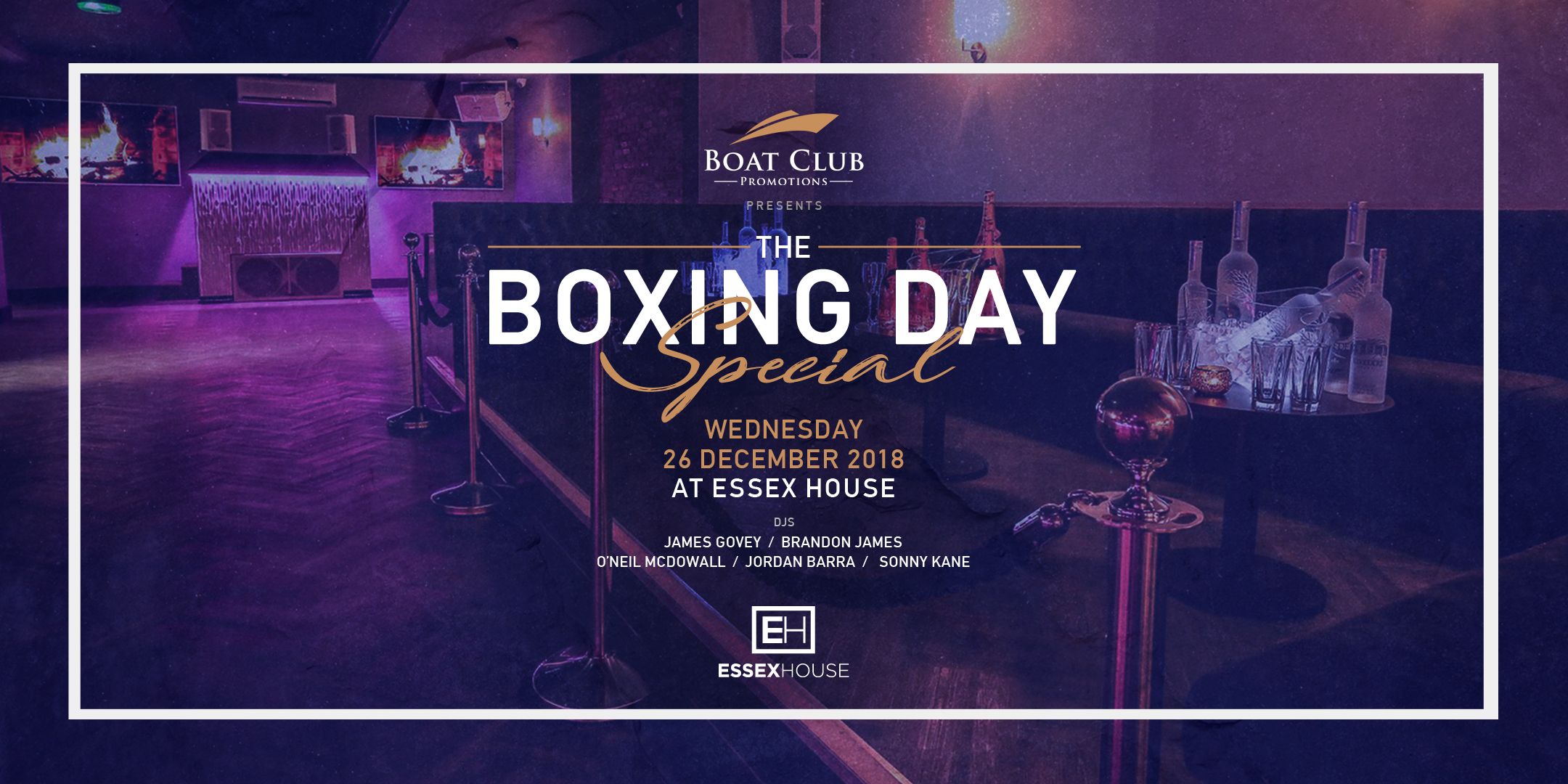 Boat Club Boxing Day Spesh at EH 18 Tkt site
