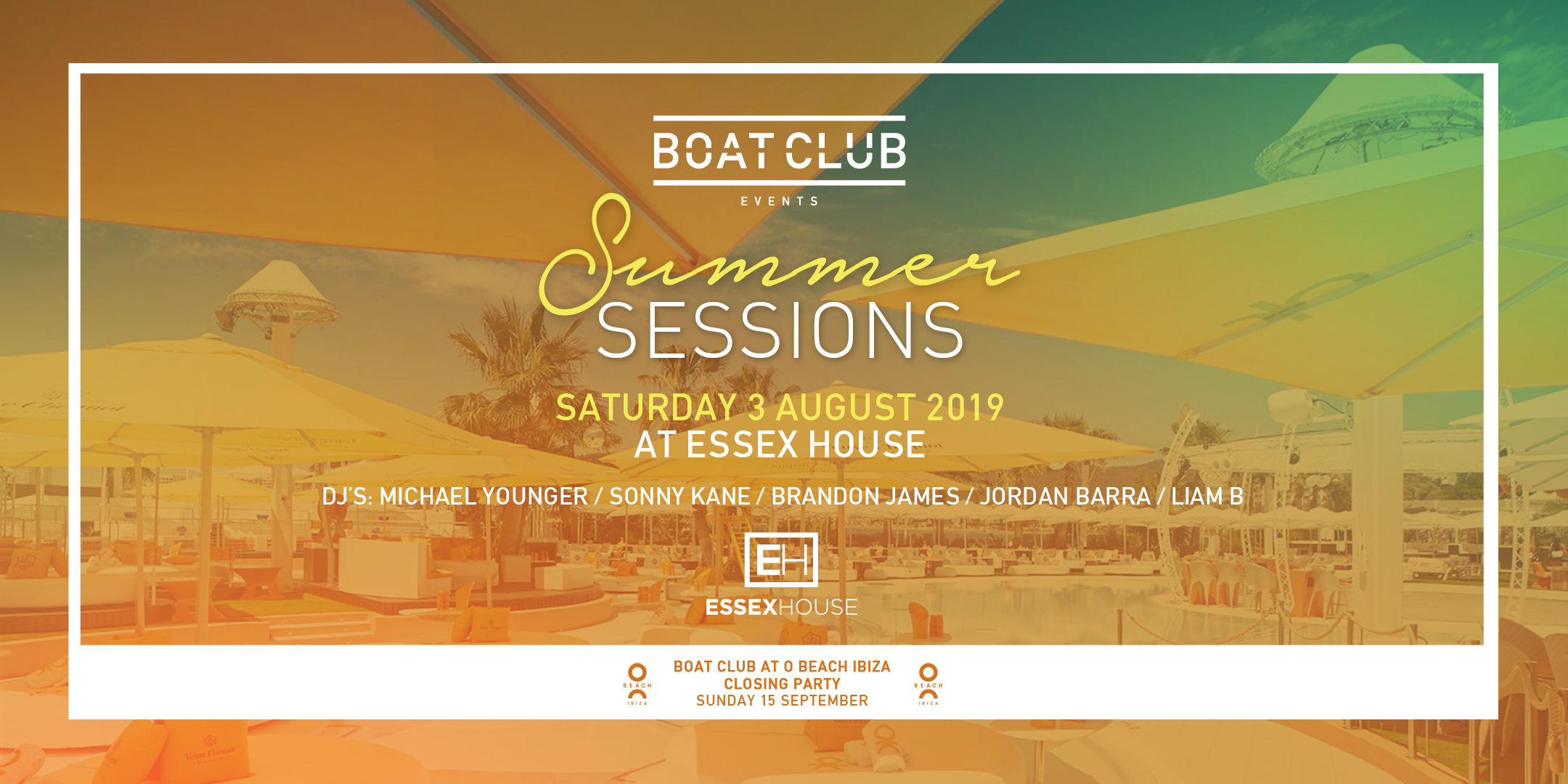 Boat Club Summer Sessions 3 Aug 2019 Tkt site
